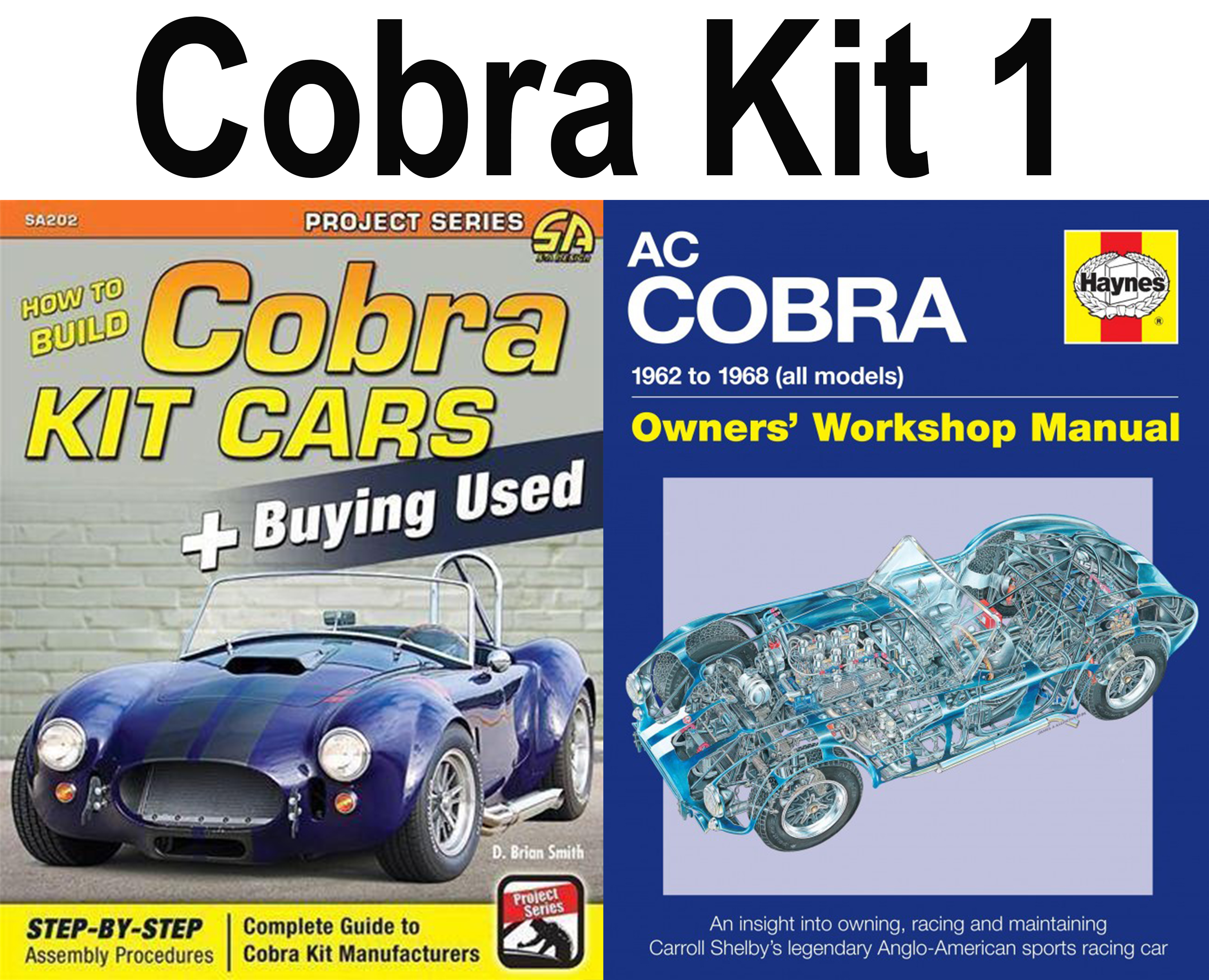 Details about Shelby Cobra Ac 1962-1968 Kit Car 2 Book Set Workshop Manual  How To Build