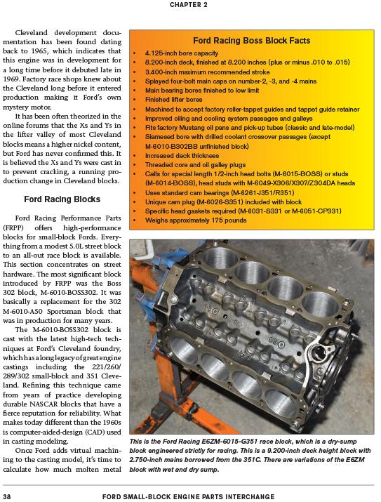 Ford Small Block Engine Parts Interchange Cleveland Windsor 221