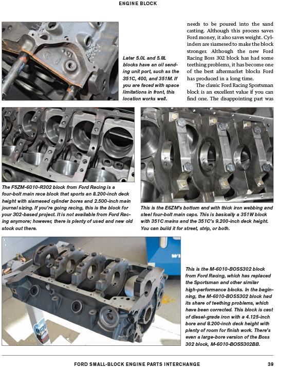 Details about Ford Cleveland Windsor Engine Parts Interchange 221 260 289  302 351 400 Mustang
