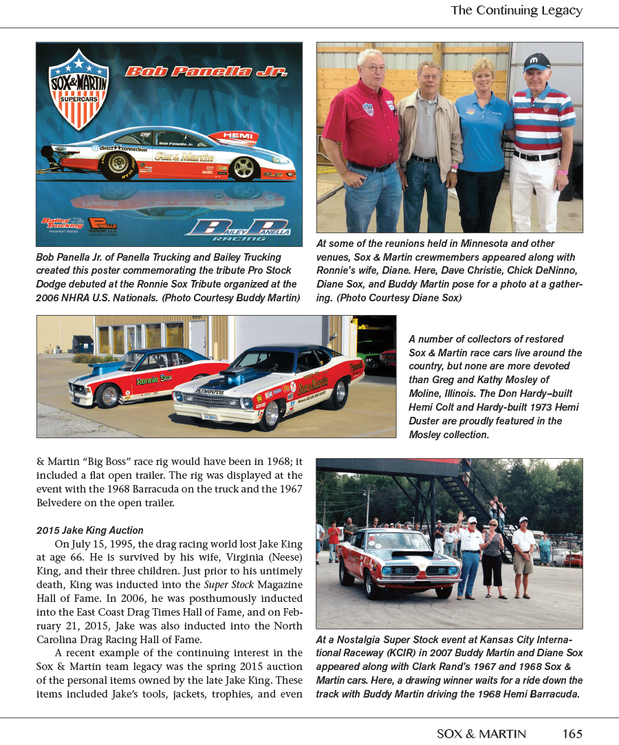 Sox & Martin Famous Team in Mopar Drag Racing Super Stock to Pro ...