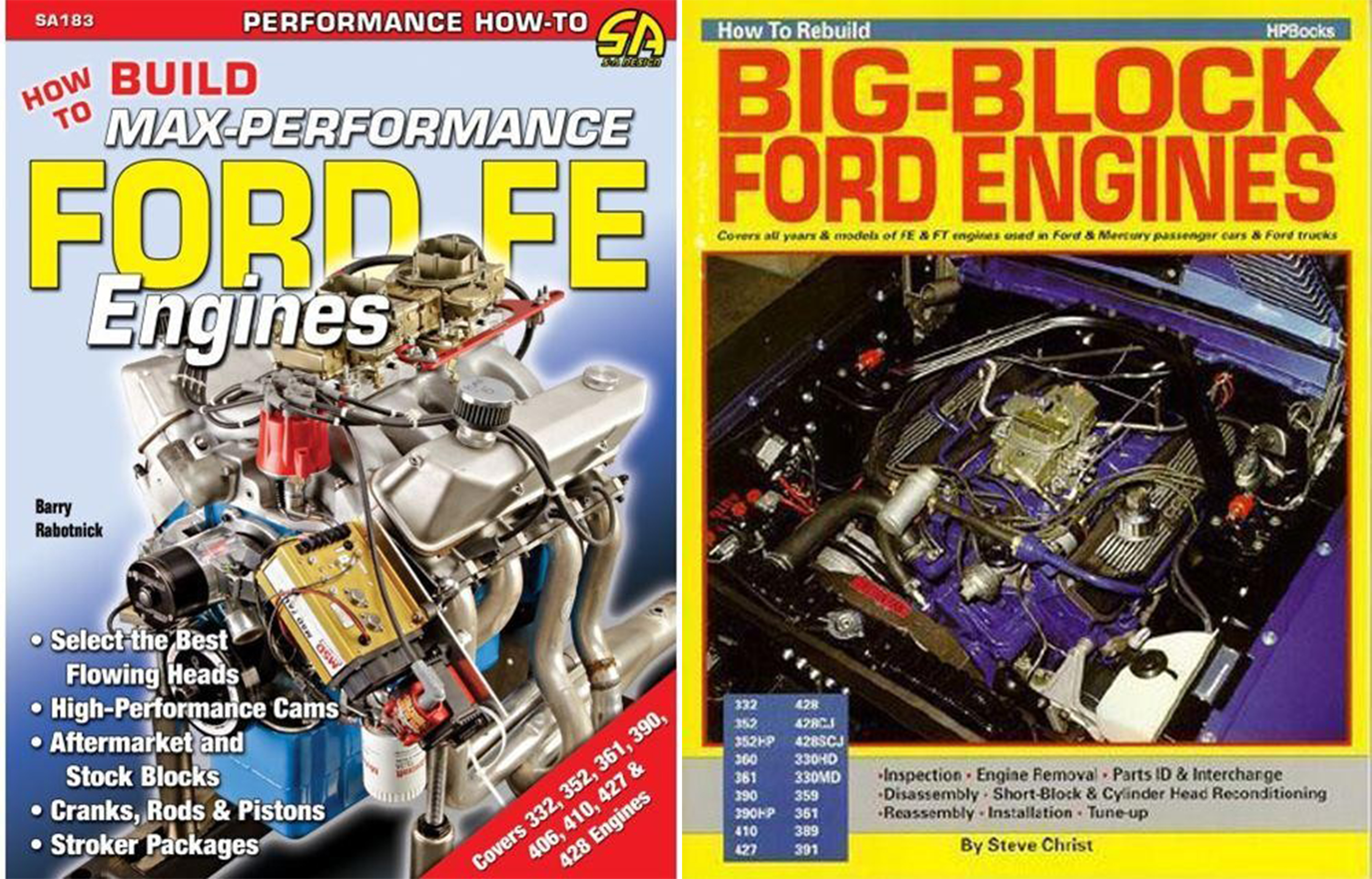 Sentinel FORD FE ENGINE REBUILD PERFORMANCE MANUALS 332 359 360 361 389 390  391 427 428