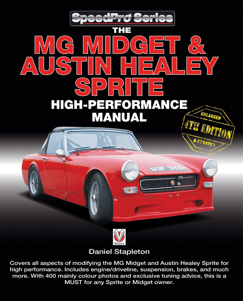 Sentinel MG Midget Austin Healey Sprite High Performance Manual Enlarged &  updated book