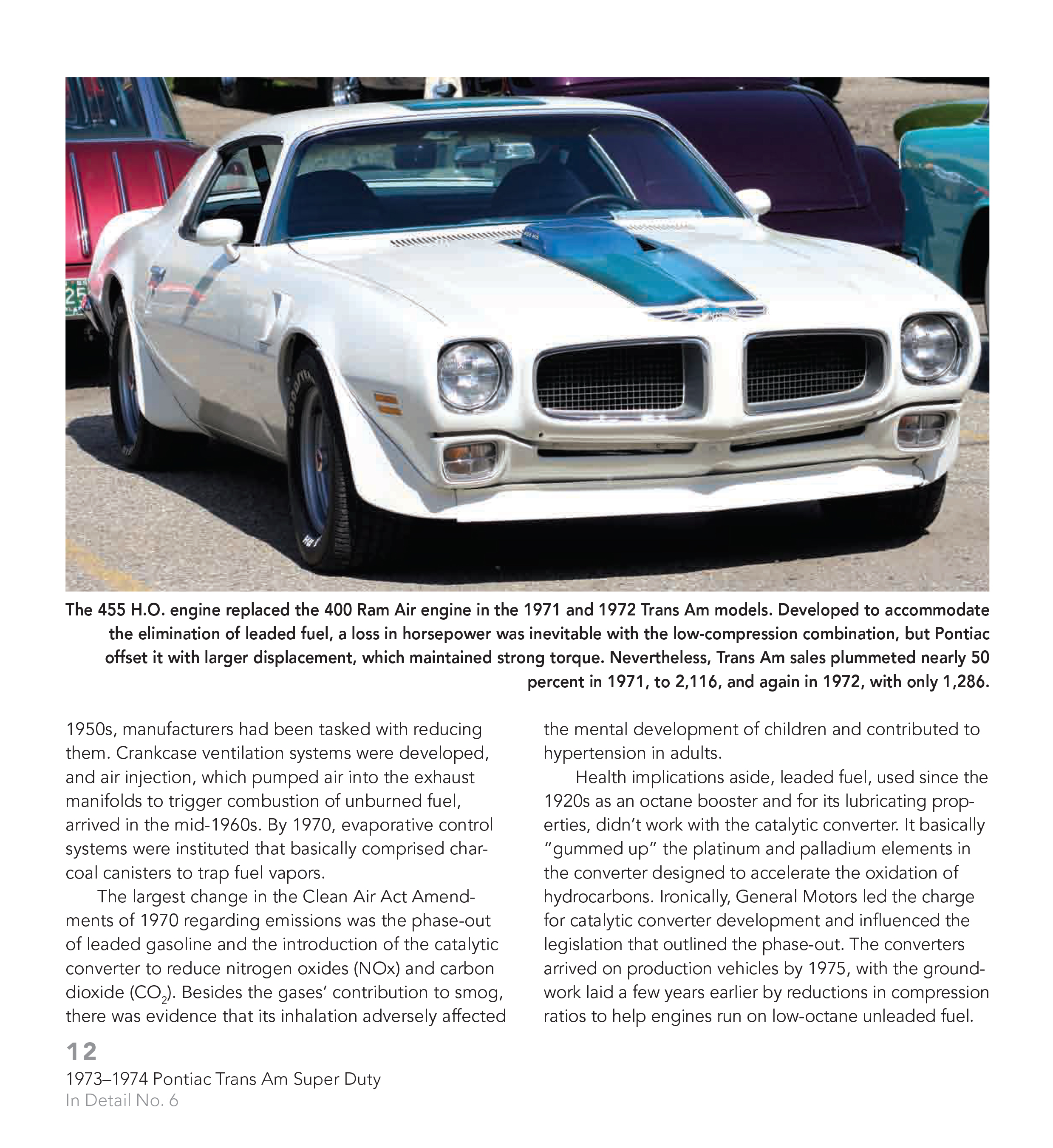 Trans Am 1973 1974 Pontiac Super Duty 455 Muscle Cars In Sentinel Detail Book