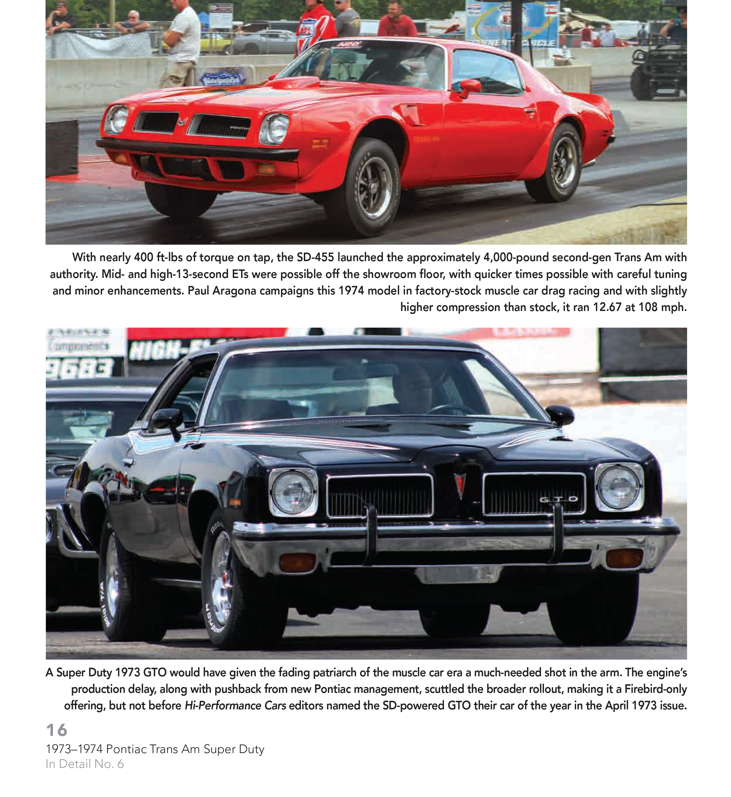 TRANS AM 1973 1974 PONTIAC TRANS AM SUPER DUTY 455: MUSCLE CARS IN ...