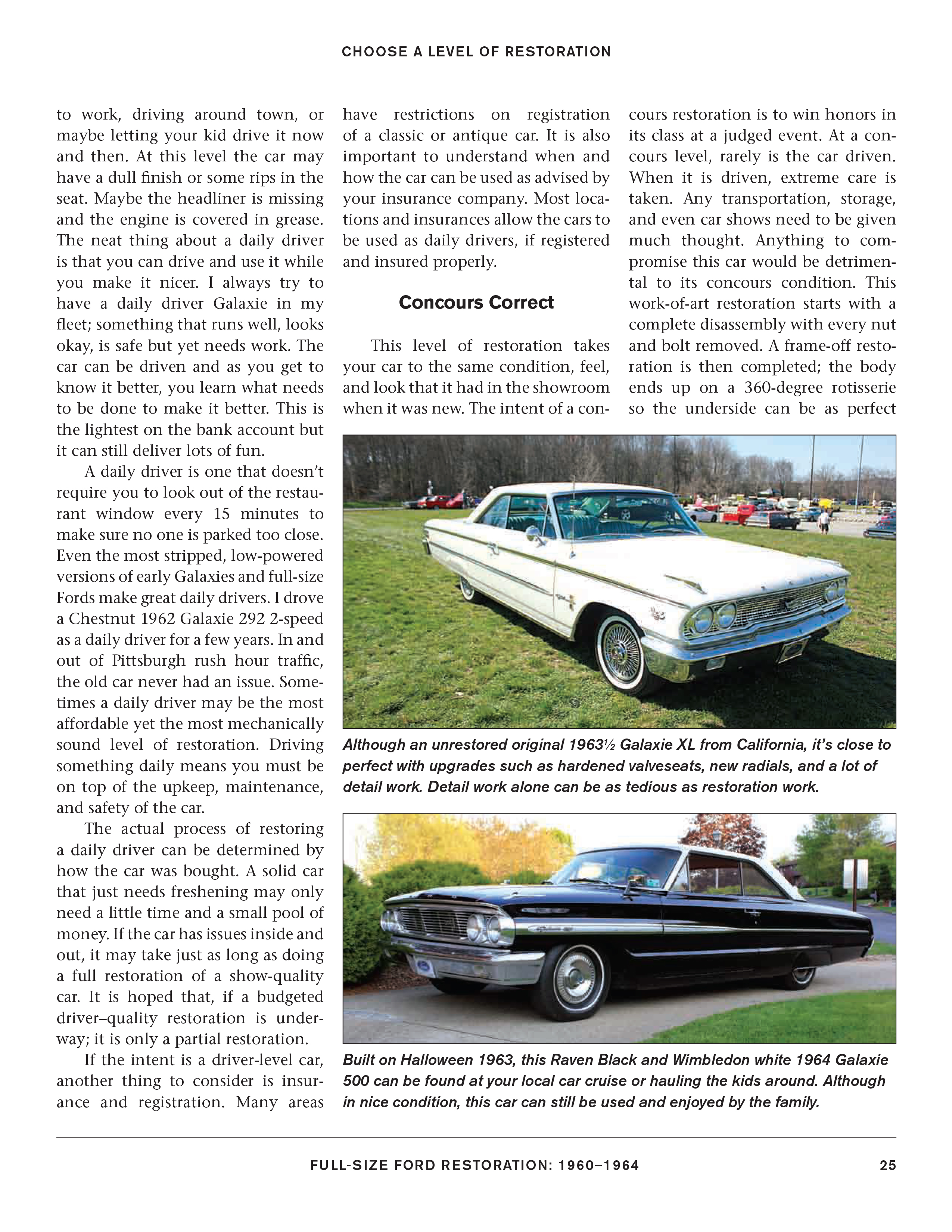 1960-1964 Full Size Ford Restoration Fairlane Galaxie Ranch Country Wagon Book