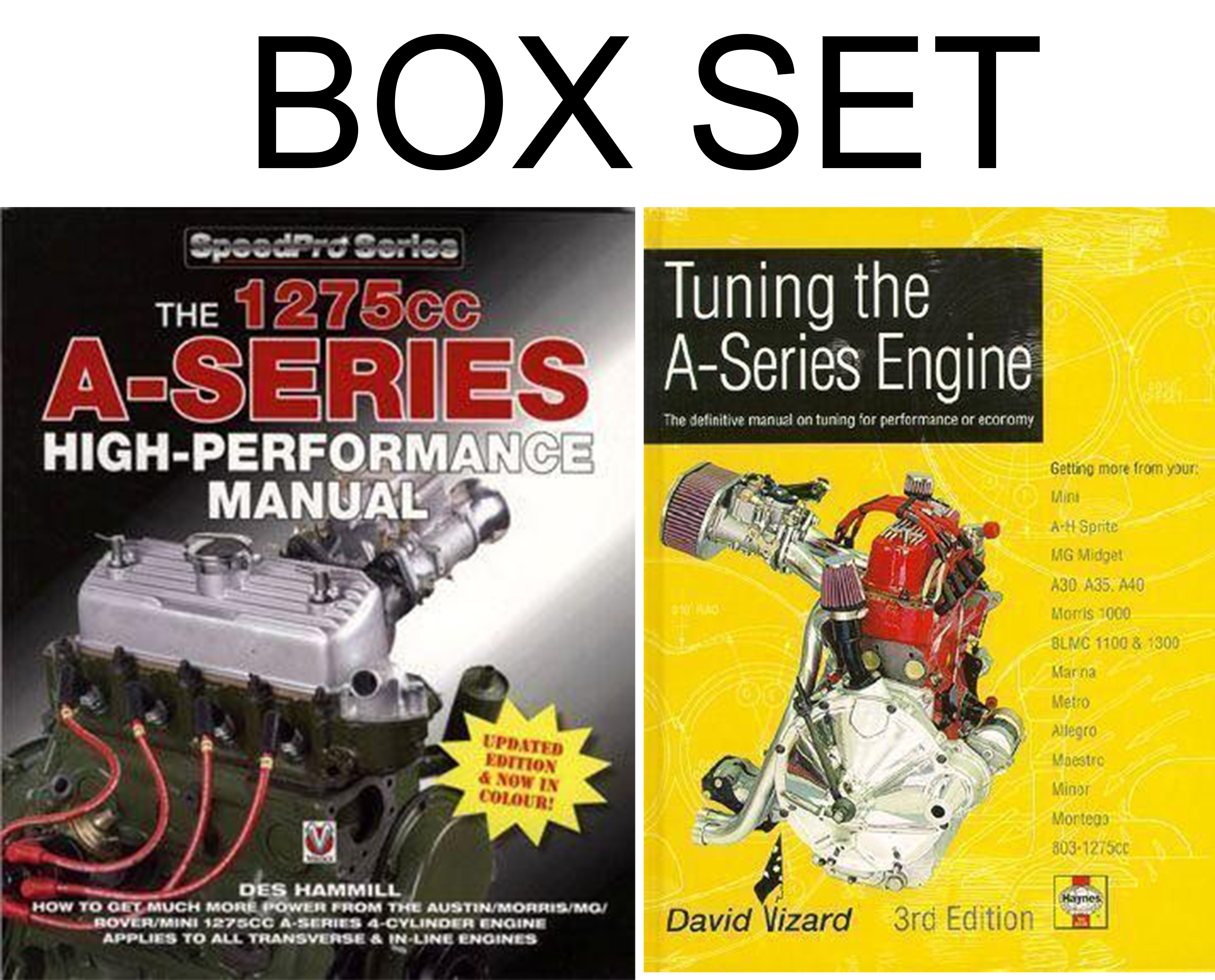 Sentinel A Series 1275 Rebuild and Tuning PERFORMANCE BOX SET VIZARD HEALEY  MG MINI BOOKS
