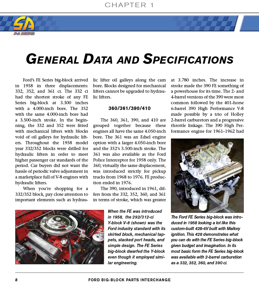 Ford parts interchange manual, book review: information on.