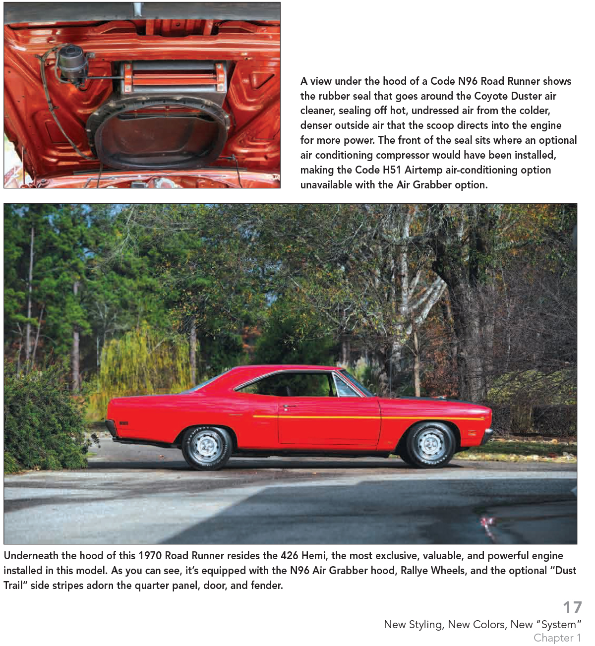 1970 Plymouth Road Runner Wiring Diagram Color Electrical 69 Hemi Vin Code Fender Specs Book 383 440