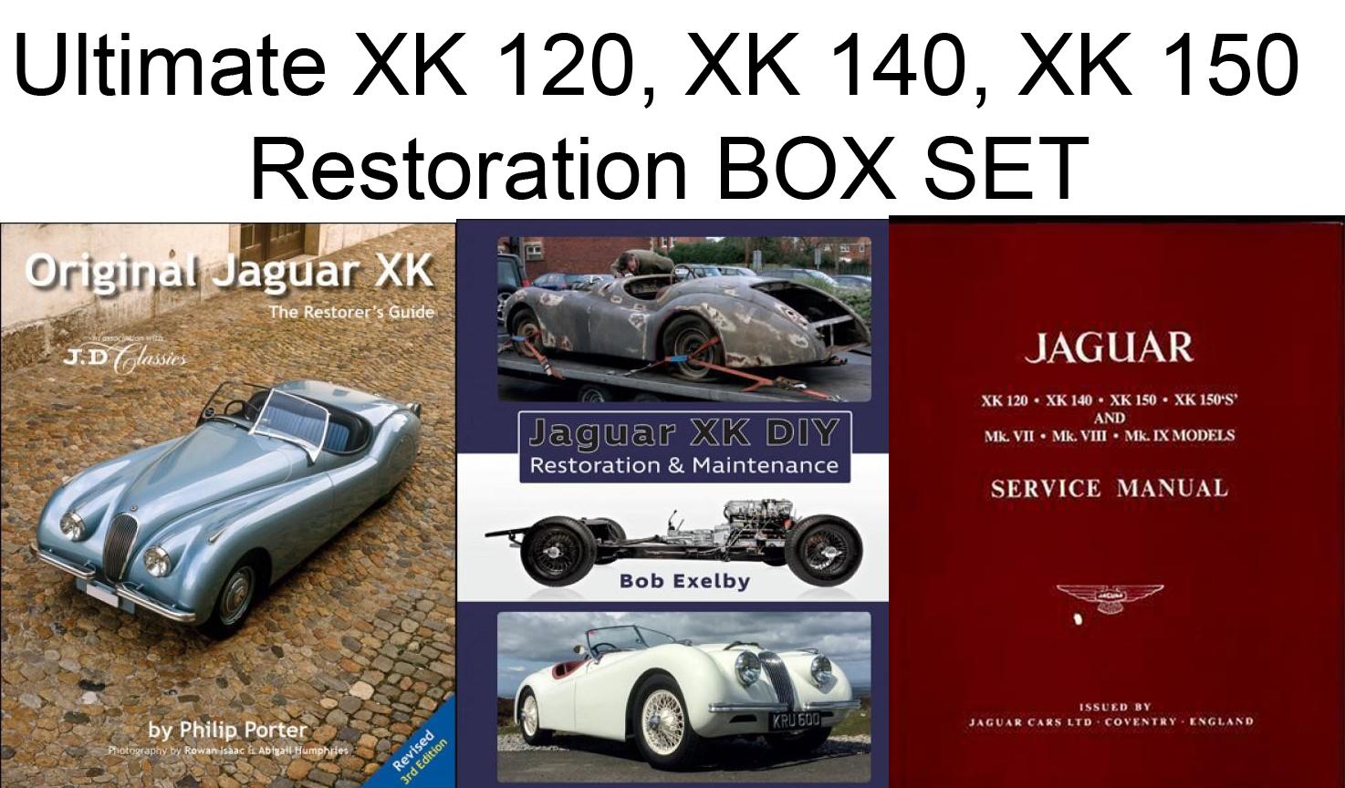Sentinel Jaguar Ultimate XK120 XK140 XK150 Restoration Repair Service  Manual Book BOX SET