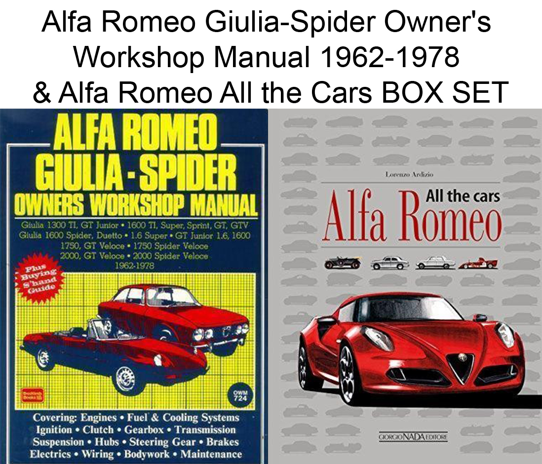 Alfa Romeo GiuliaSpider Owners Workshop Manual Alfa - Alfa romeo spider workshop manual