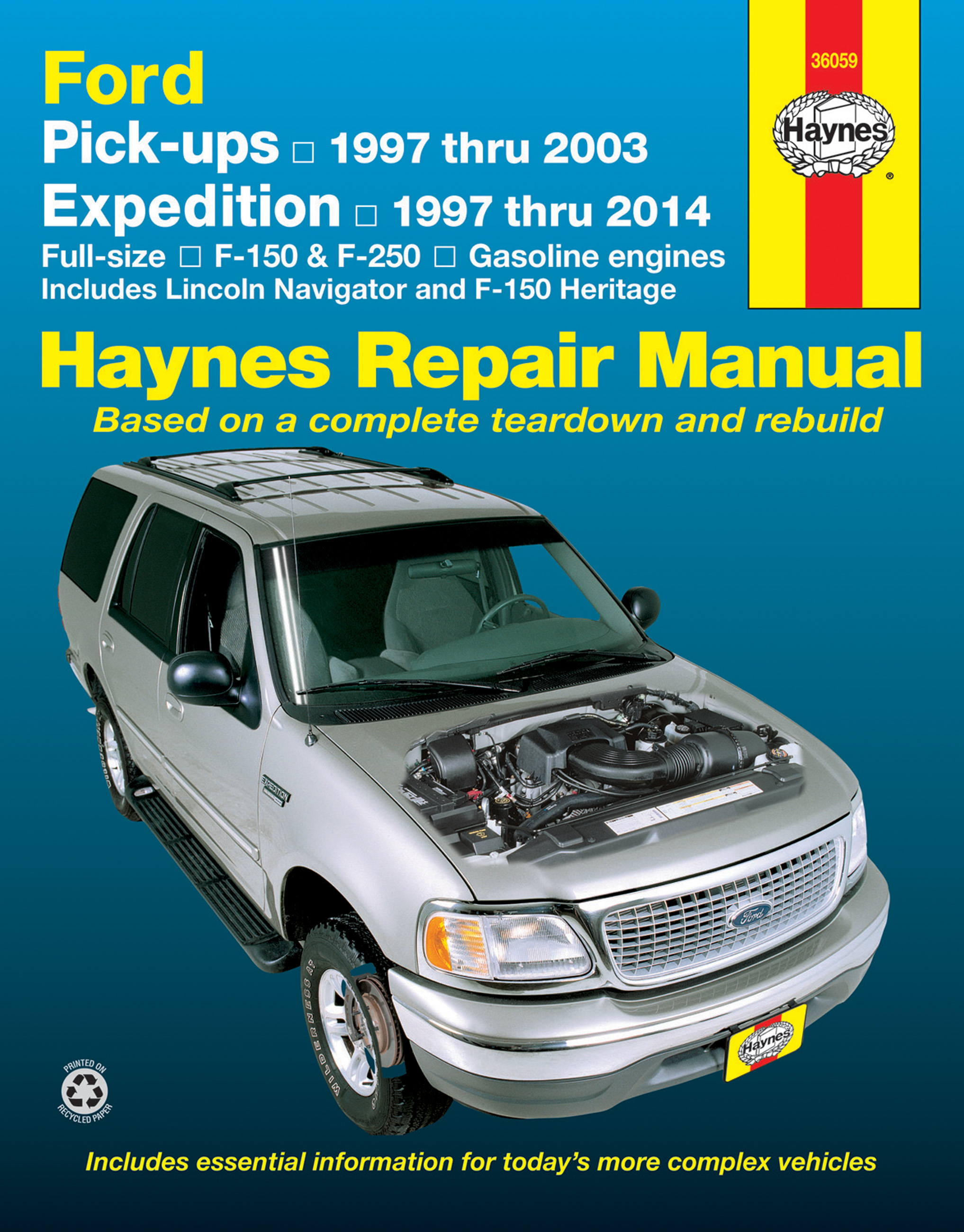 Sentinel FORD F150 F250 EXPEDITION LINCOLN NAVIGATOR SHOP REPAIR SERVICE  MANUAL HAYNES