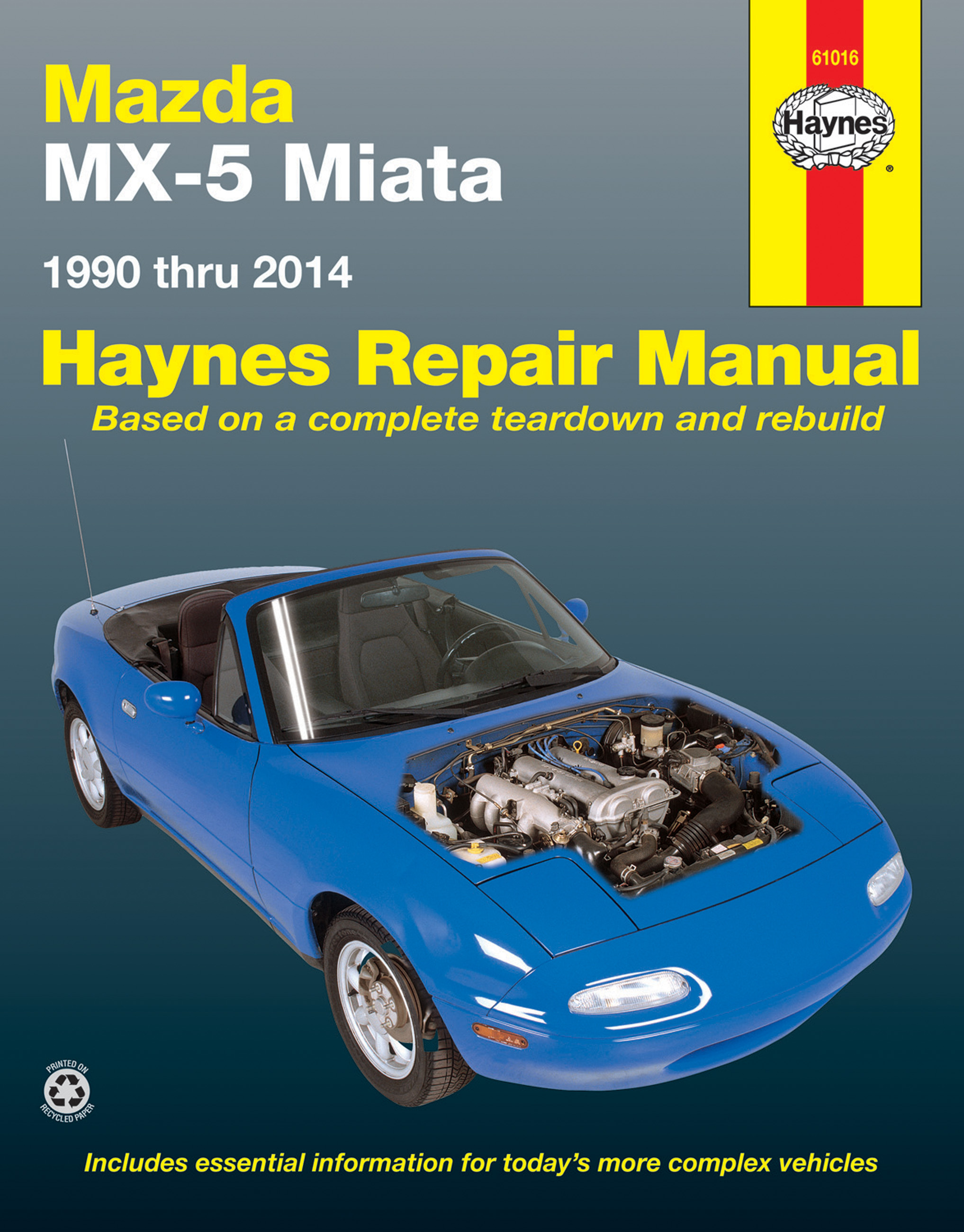 Sentinel Mazda MX-5 Miata WORKSHOP REPAIR SERVICE MANUAL BOOK HAYNES  CHILTON MX5 NON TURB