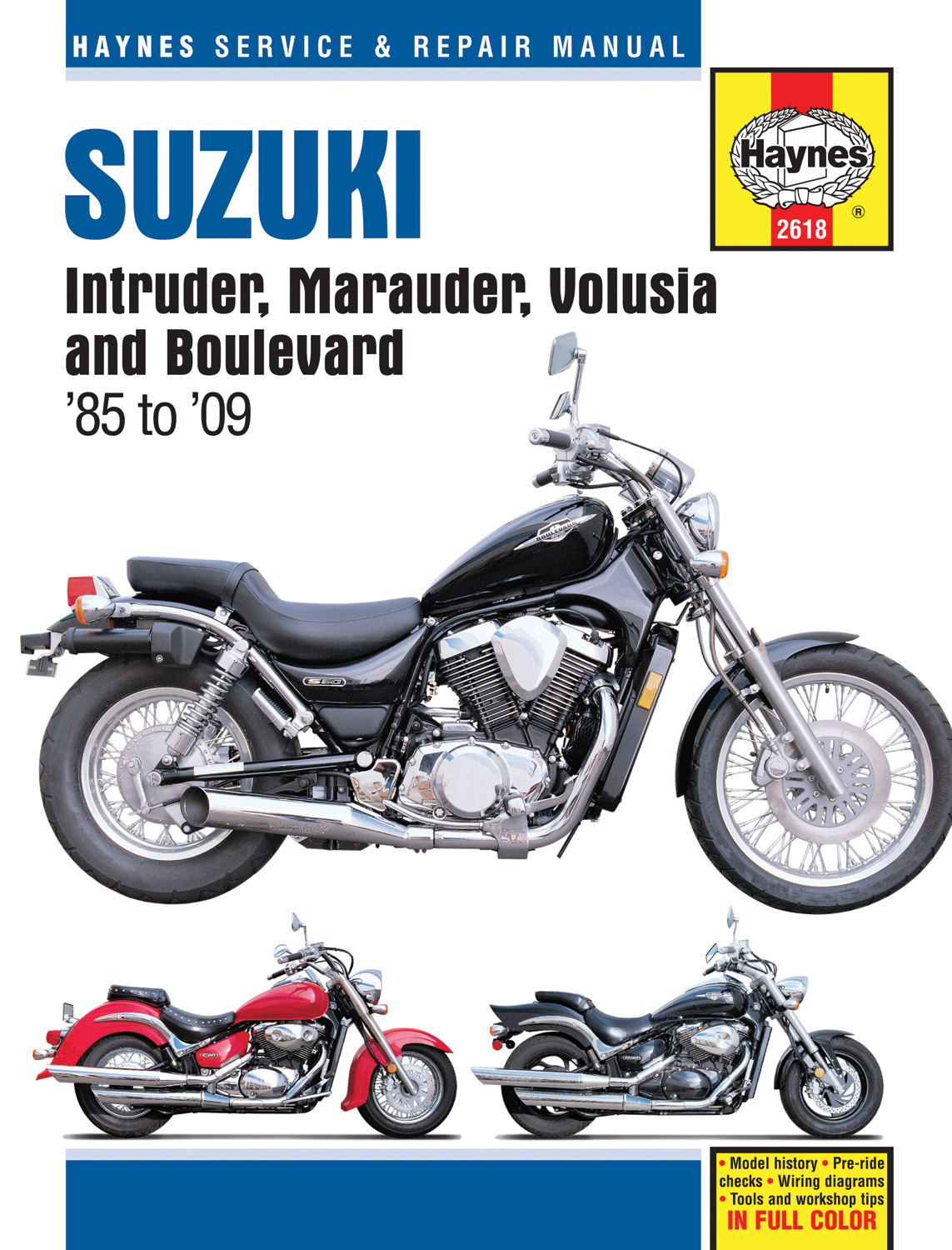 Sentinel SHOP REPAIR SERVICE MANUAL Suzuki Intruder Marauder Volusia  Boulevard HAYNES