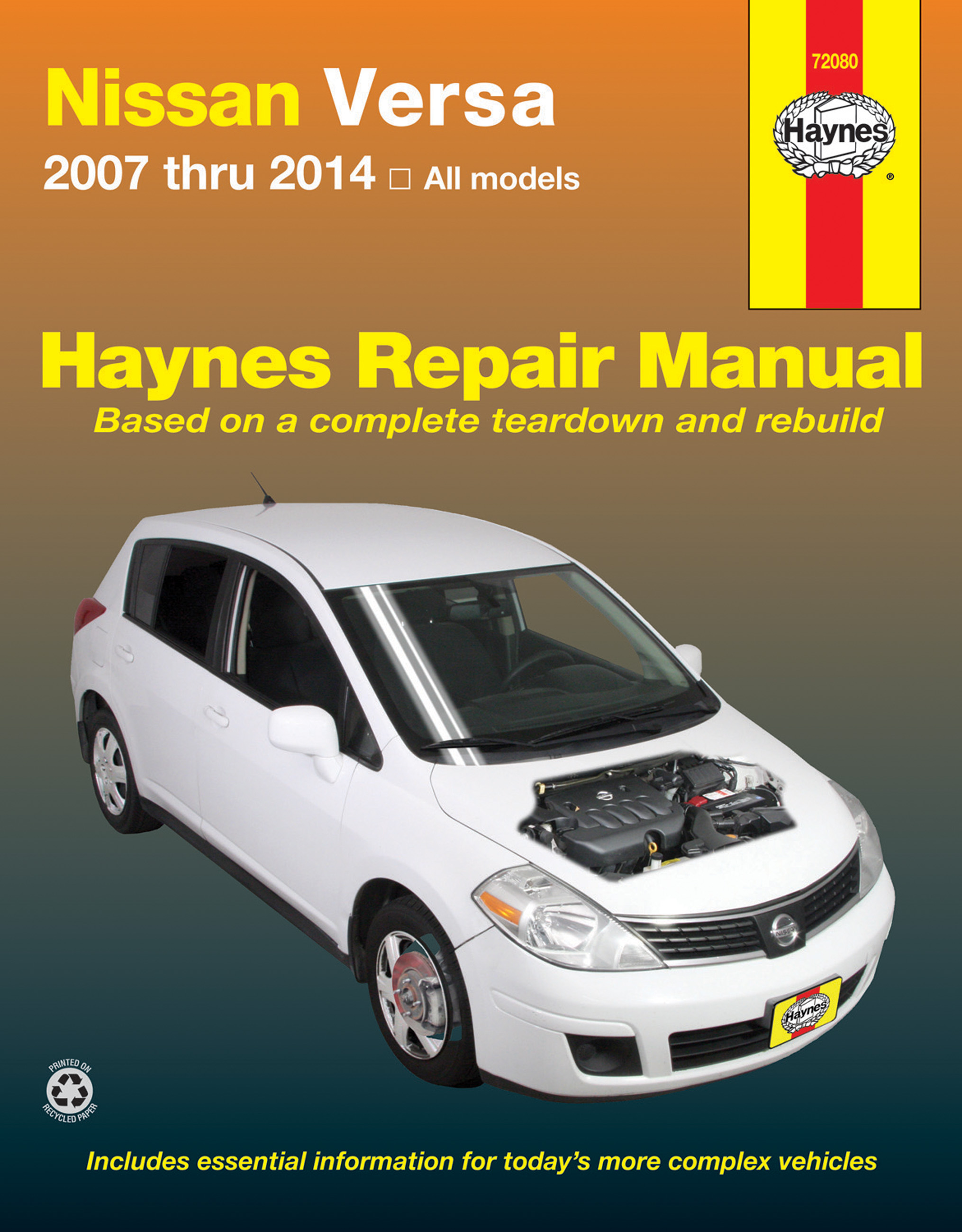 Sentinel SHOP REPAIR SERVICE MANUAL NISSAN VERSA CHILTON HAYNES CLYMER BOOK  GUIDE