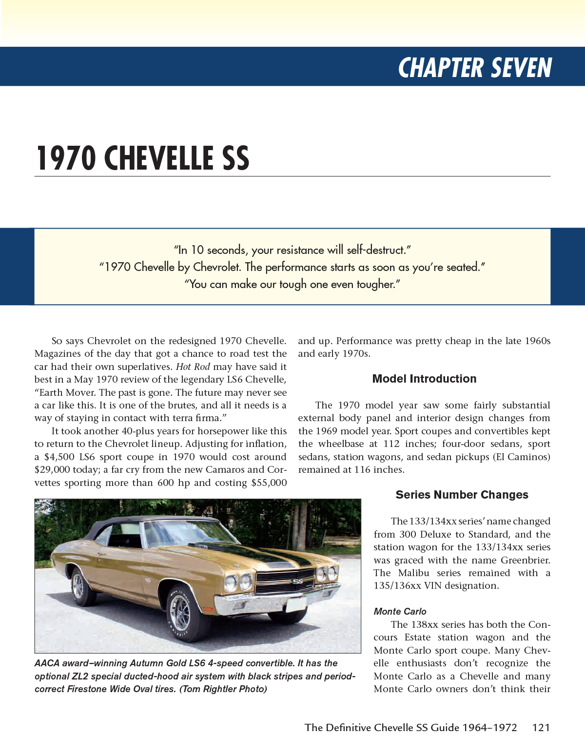 Chevelle El Camino Ss Definitive Guide Book Mcintosh 1964 1972 70 Monte Carlo Gold Sentinel Reference Manual