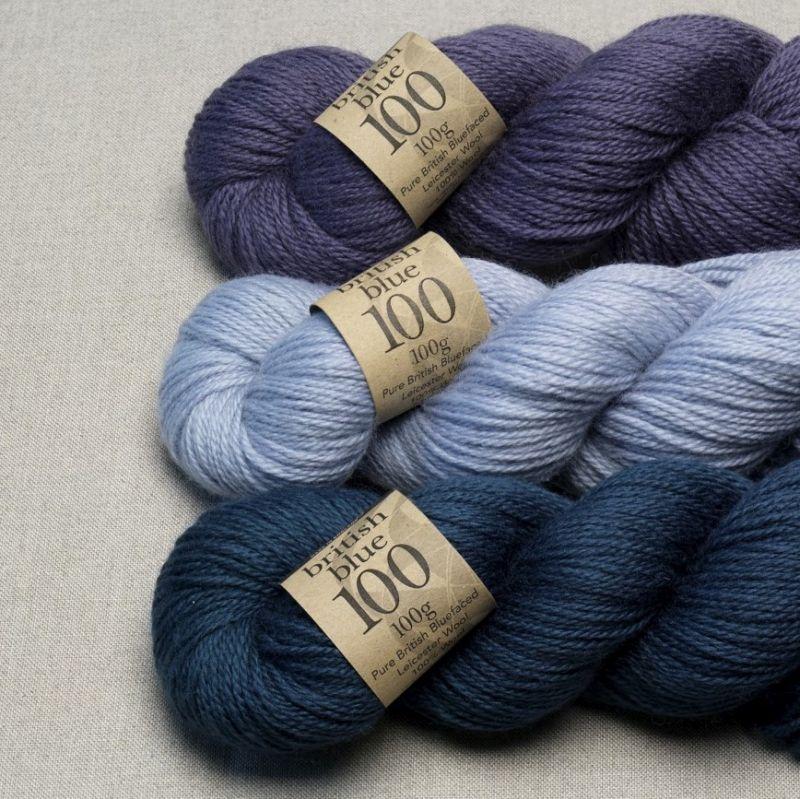 Erika Knight British Blue  knitting 100/% Wool 25 grams choice of 6 colours