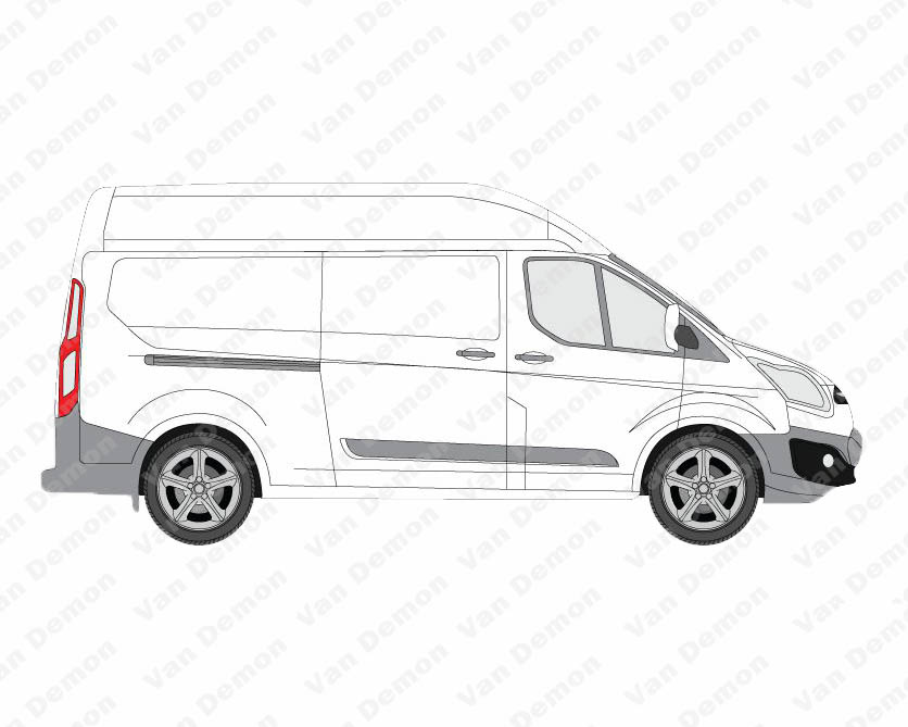 van guard ulti rack 6 bar roof rack for ford transit custom lwb high roof ebay. Black Bedroom Furniture Sets. Home Design Ideas