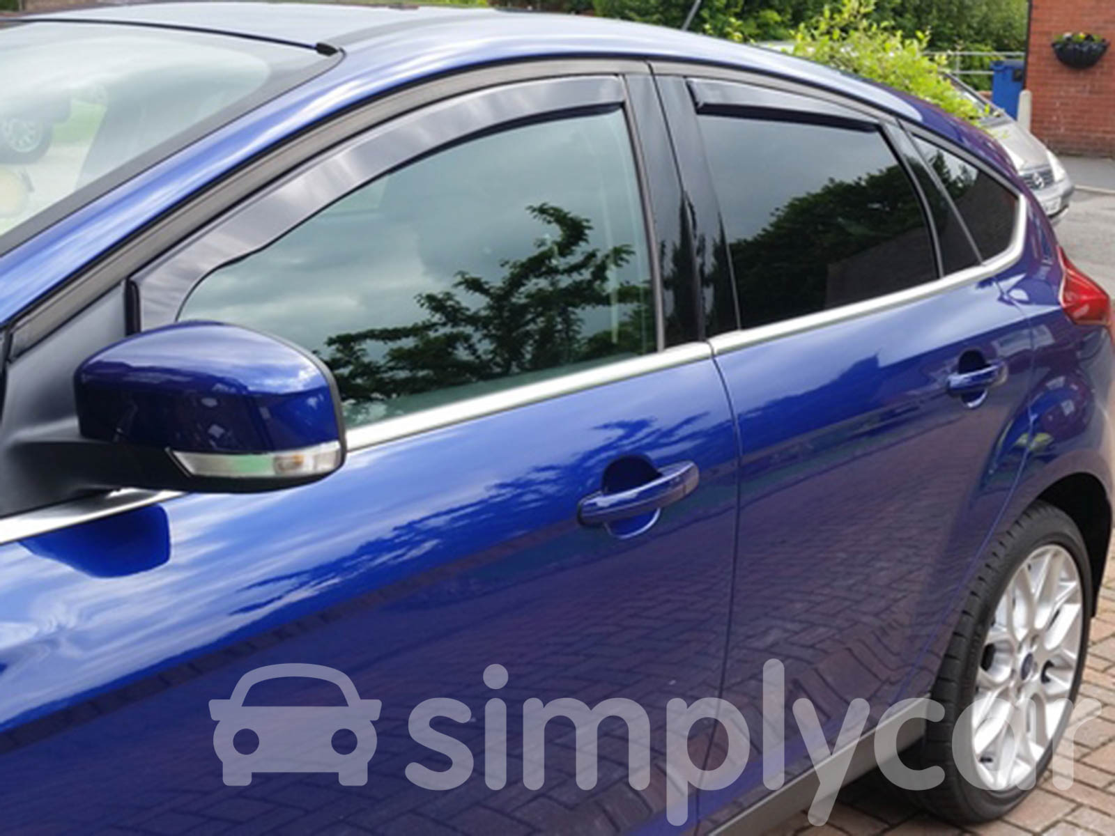 Tinted Front Rear Heko Wind Deflectors 4pc Set For Ford