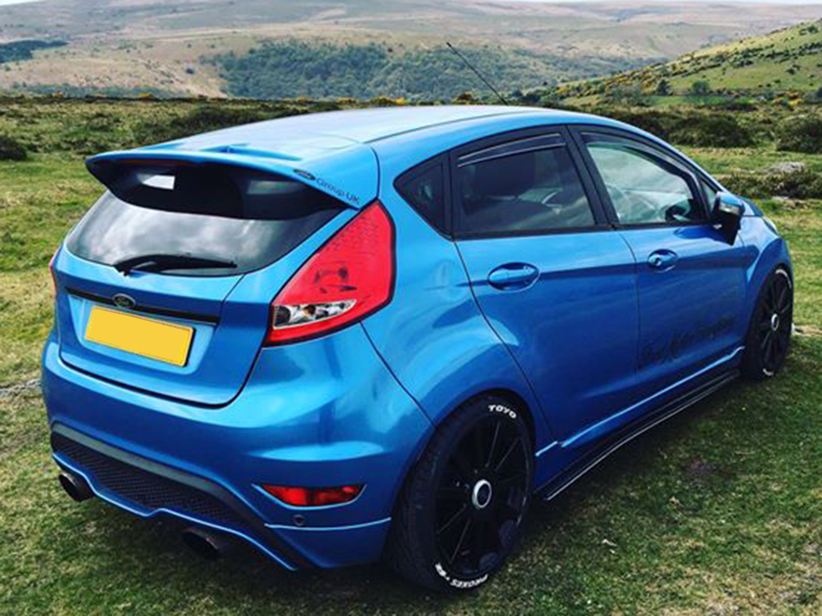 Tinted Front Rear Window 4pc Wind Deflectors For Ford