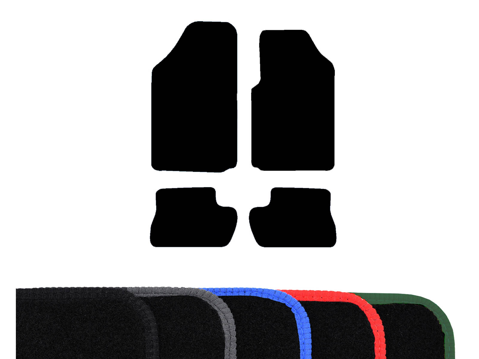 Tailored Fit Black Carpet Floor Mats 4Pc Car Front Rear