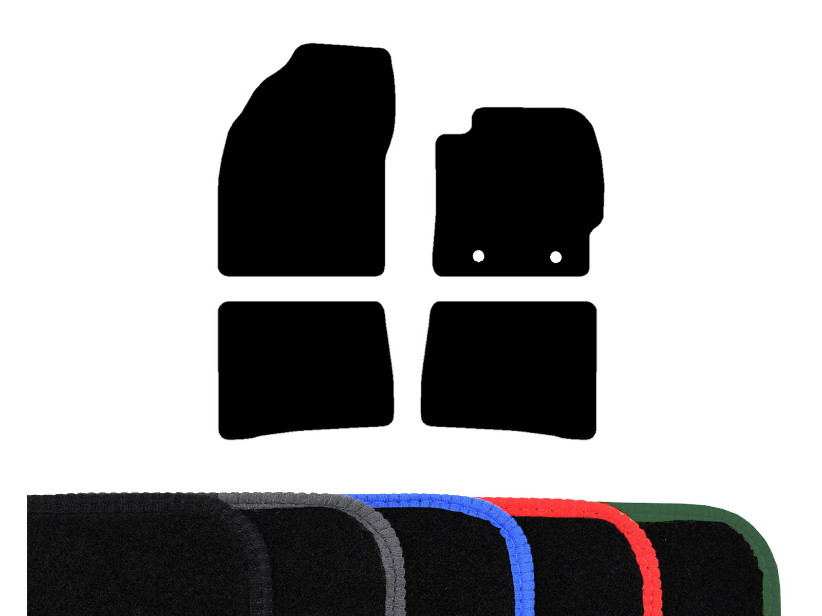Tailored Fit Black Carpet Floor Mats 4Pc Car Mat Set