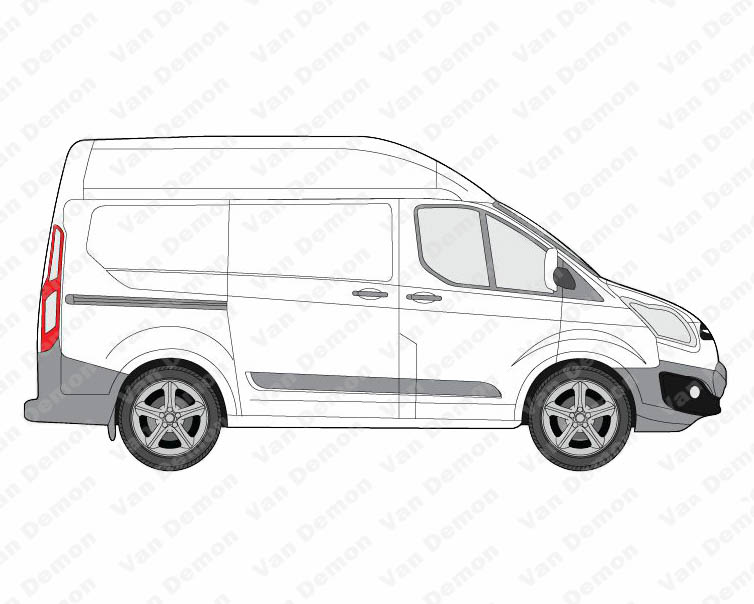 rhino aluminium van roof rack for ford transit custom 2013 on high roof swb ebay. Black Bedroom Furniture Sets. Home Design Ideas