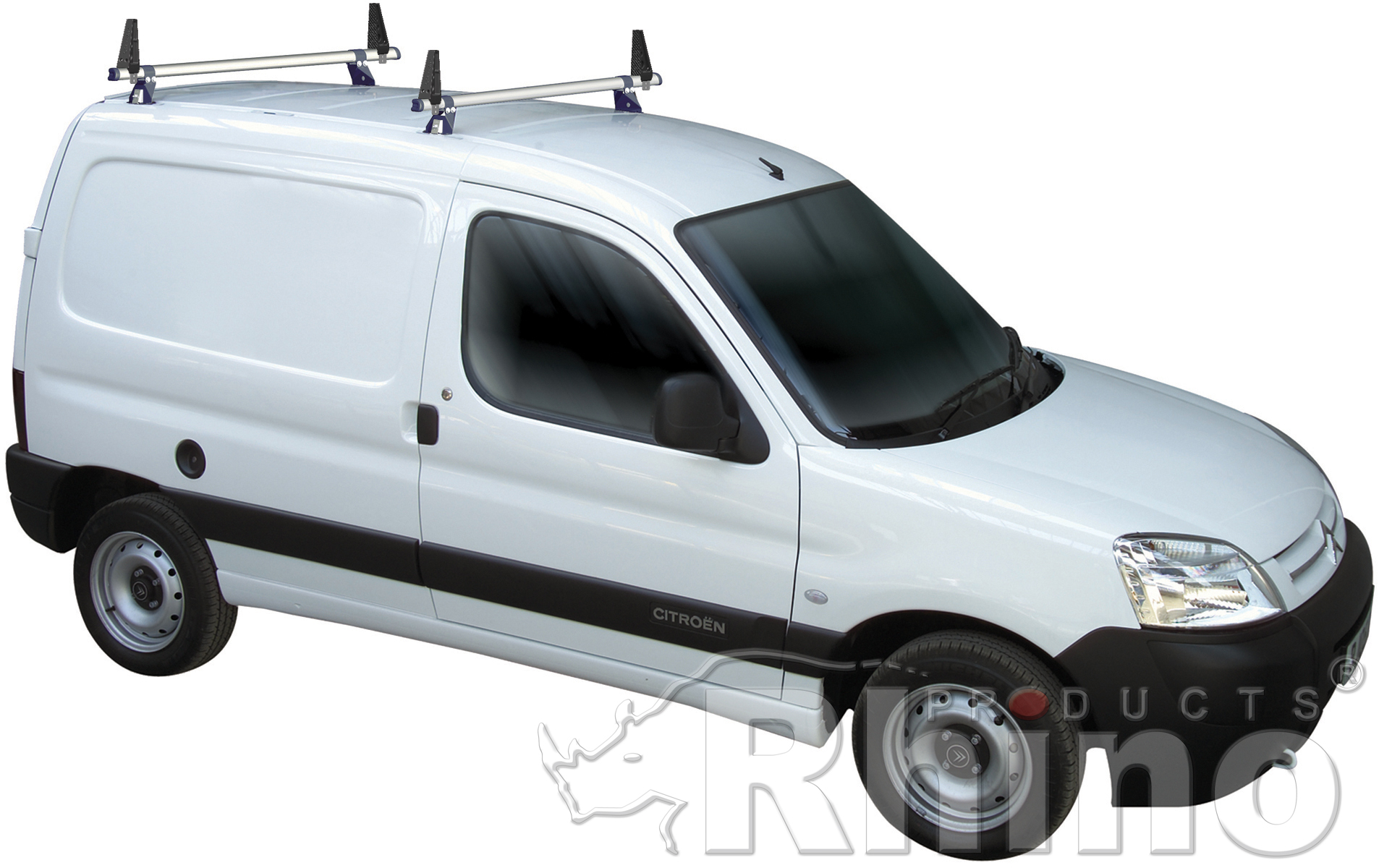 rhino delta roof bars 2 bar van roof rack system citroen. Black Bedroom Furniture Sets. Home Design Ideas