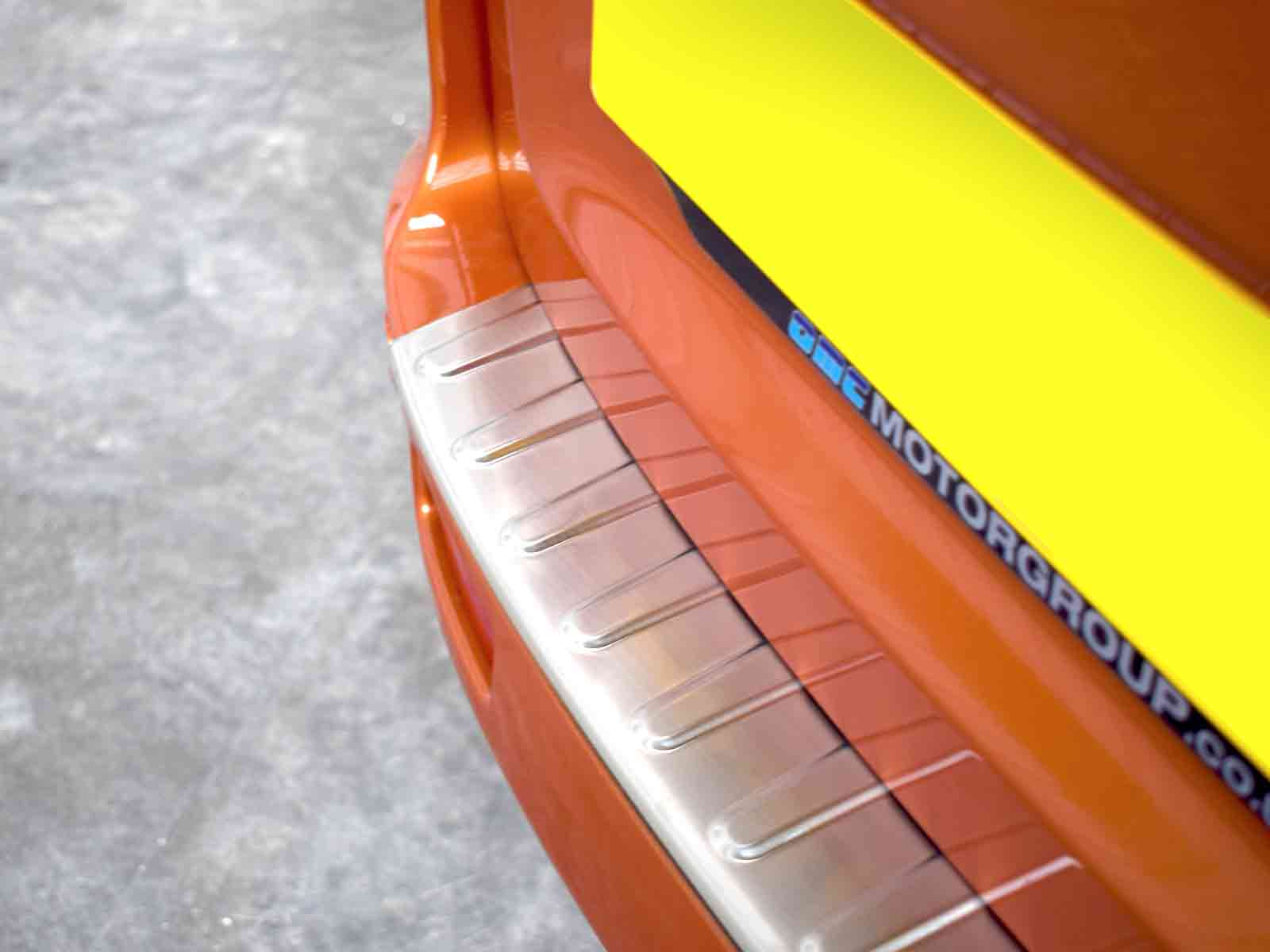 Chrome Brushed Stainless Steel Rear Bumper Sill Cover For