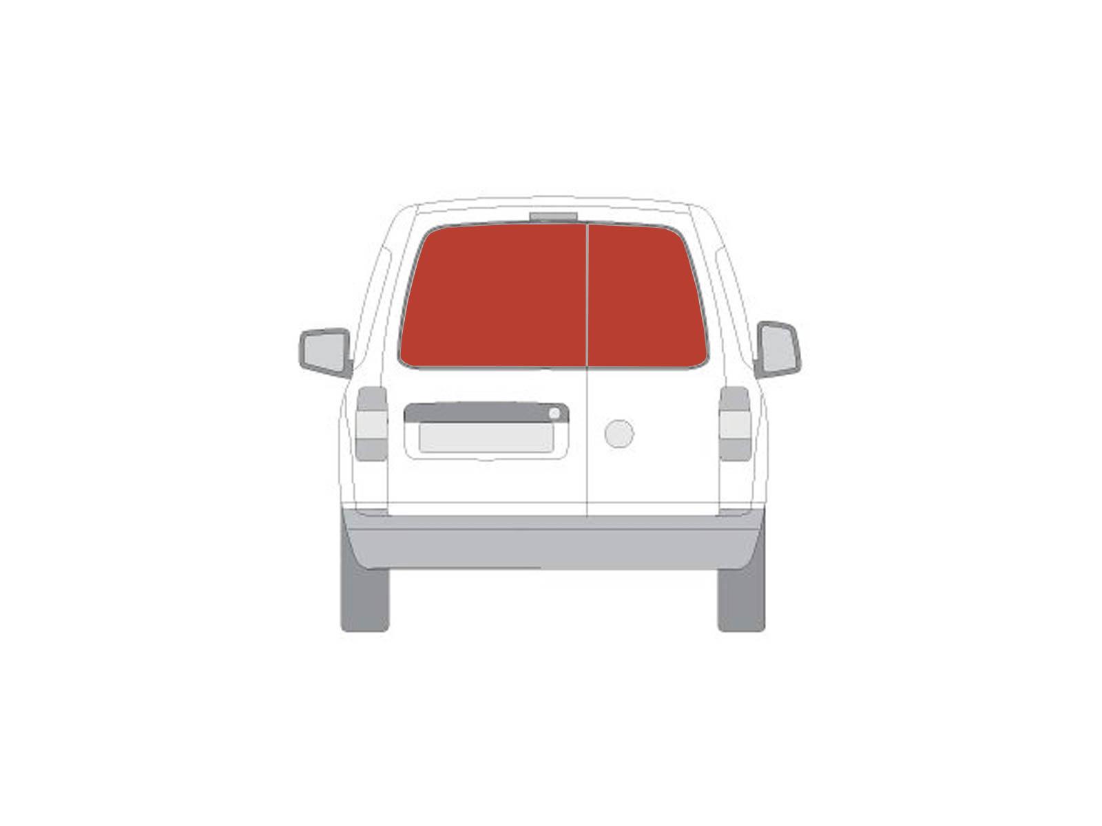 Sentinel Rear Barn Door Dark Tint Windows Pair Van Conversion Glass For VW Caddy 04