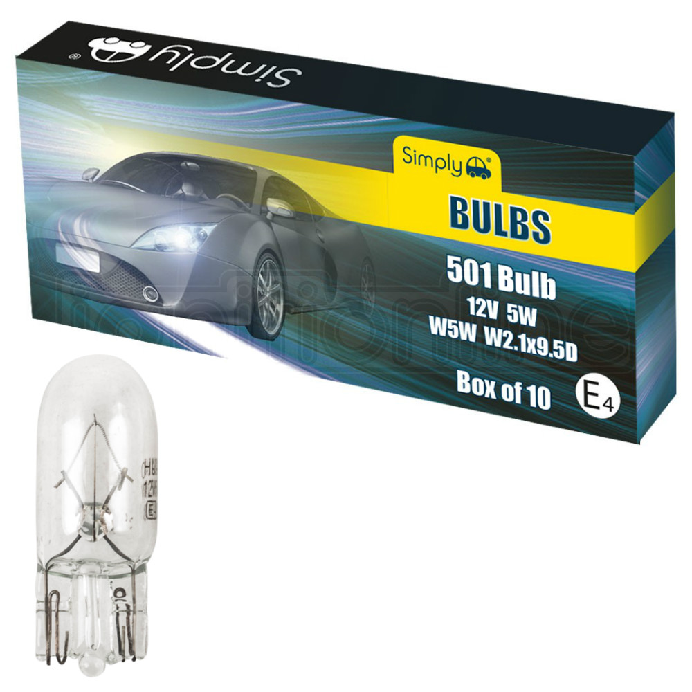 Pair of 245 Sidelight Car Bulb Bulbs Number Plate Tail Light 12V 10W