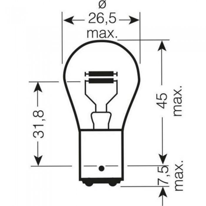 10 x 566 P21//5w 12v Off-Set Stop Brand New Fog /& Tail light Bulbs E Marked