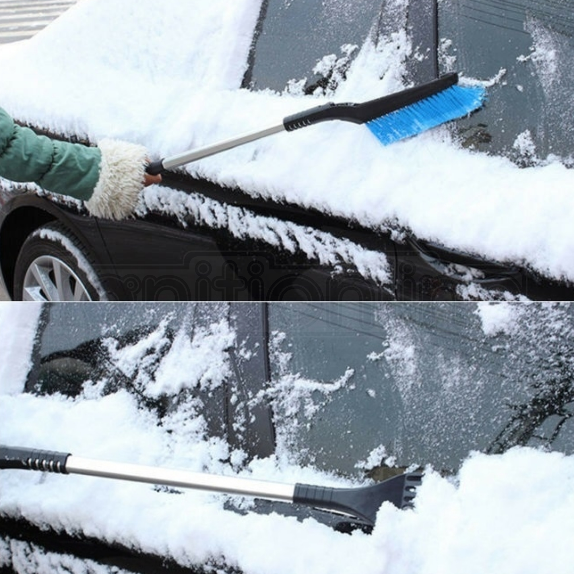 Car Ice Scraper Snow Brush Long Handle Winter Husky Grip Shovel Windscreen Frost