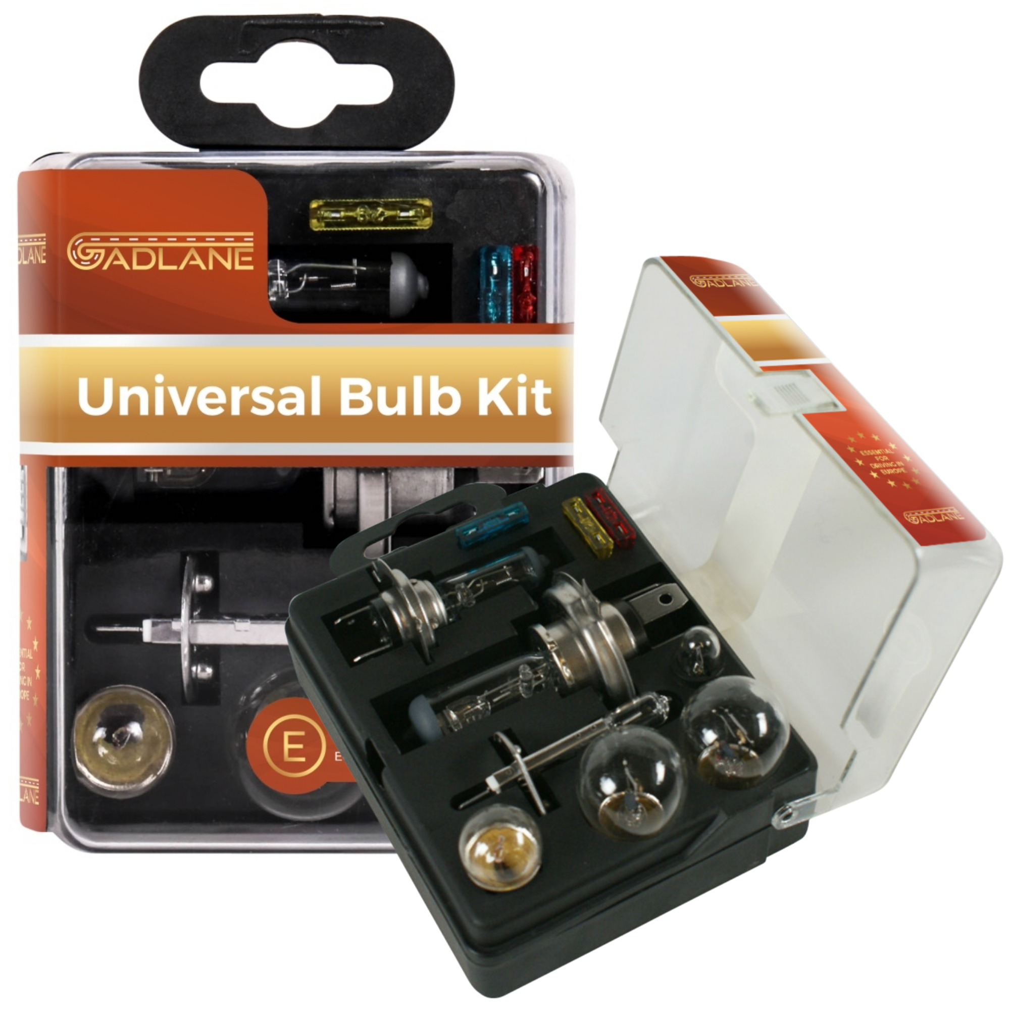 STATUS 10pc Universal Replacement Car Emergency Light Bulb Fuse Kit 477 H7 472 H4 448 H1 382 P21W 380 P21//5W 207 R5W 501 W5W