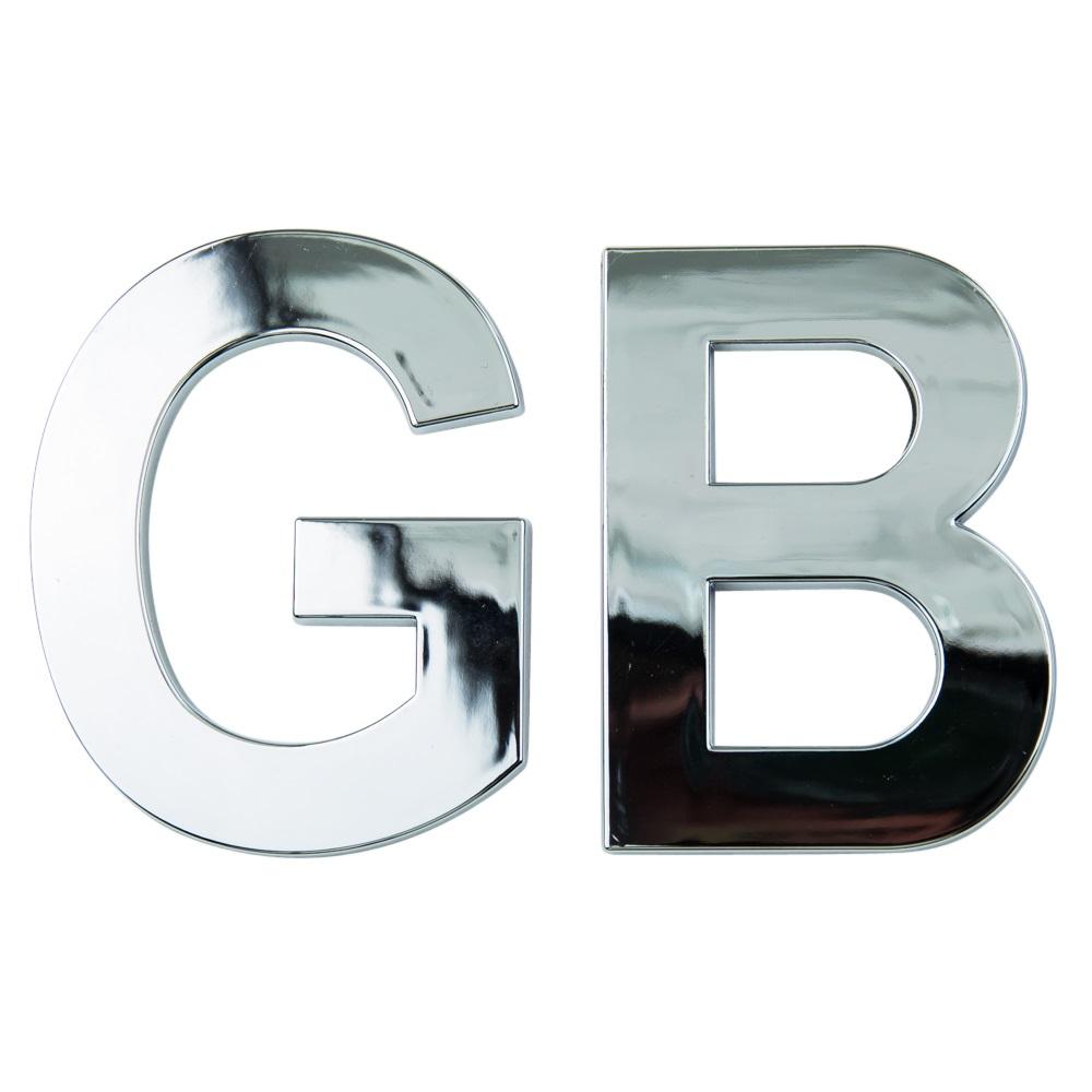 GB Chrome Badge GB Emblem 3D Self Adhesive Badge Classic ...
