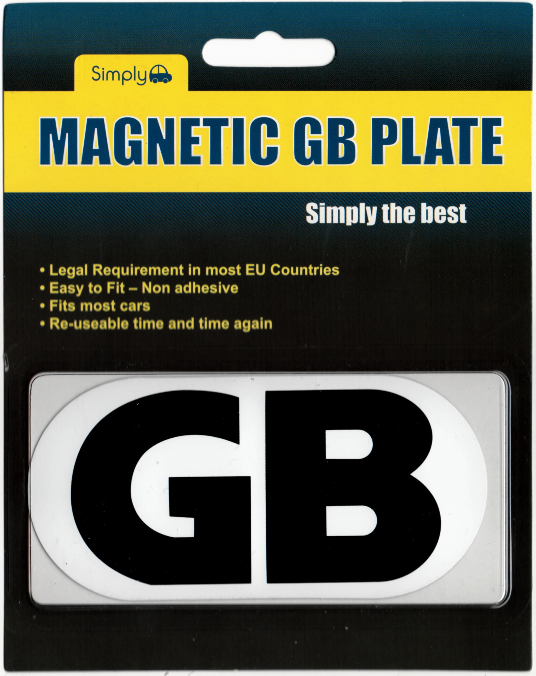 2 x Magnetic GB Euro Badges Travel Plate Sticker Legally Required France Spain