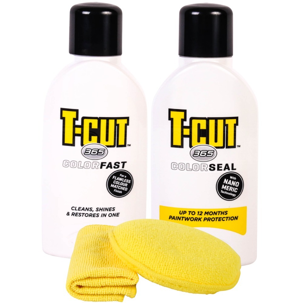 T Cut 365 Paintwork Kit Car Polish Pure White Wax Color