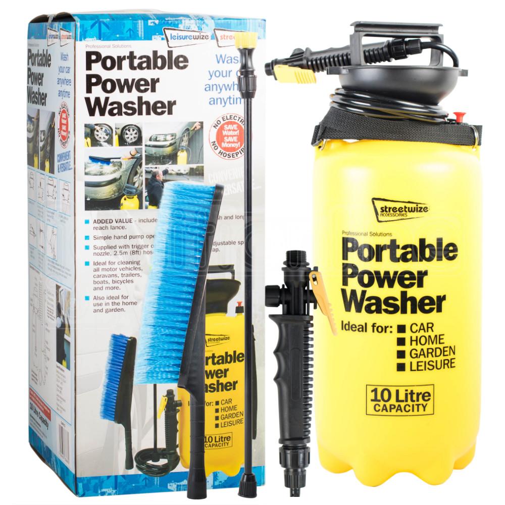 portable pressure power washer pump 10l spray jet car wash. Black Bedroom Furniture Sets. Home Design Ideas