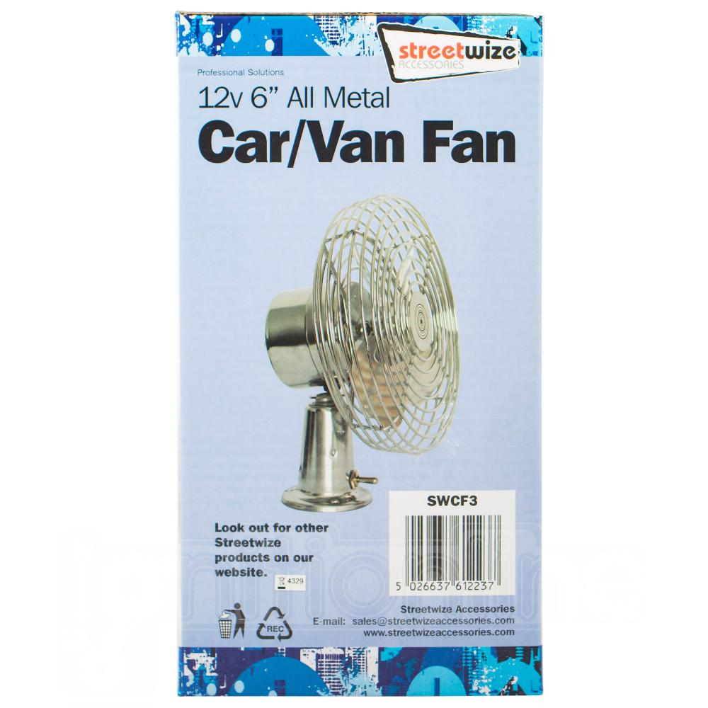 "12v 6/"" All Metal Car Van Fan Powerful Dual High Speed Dashboard Mount Air Cooler"