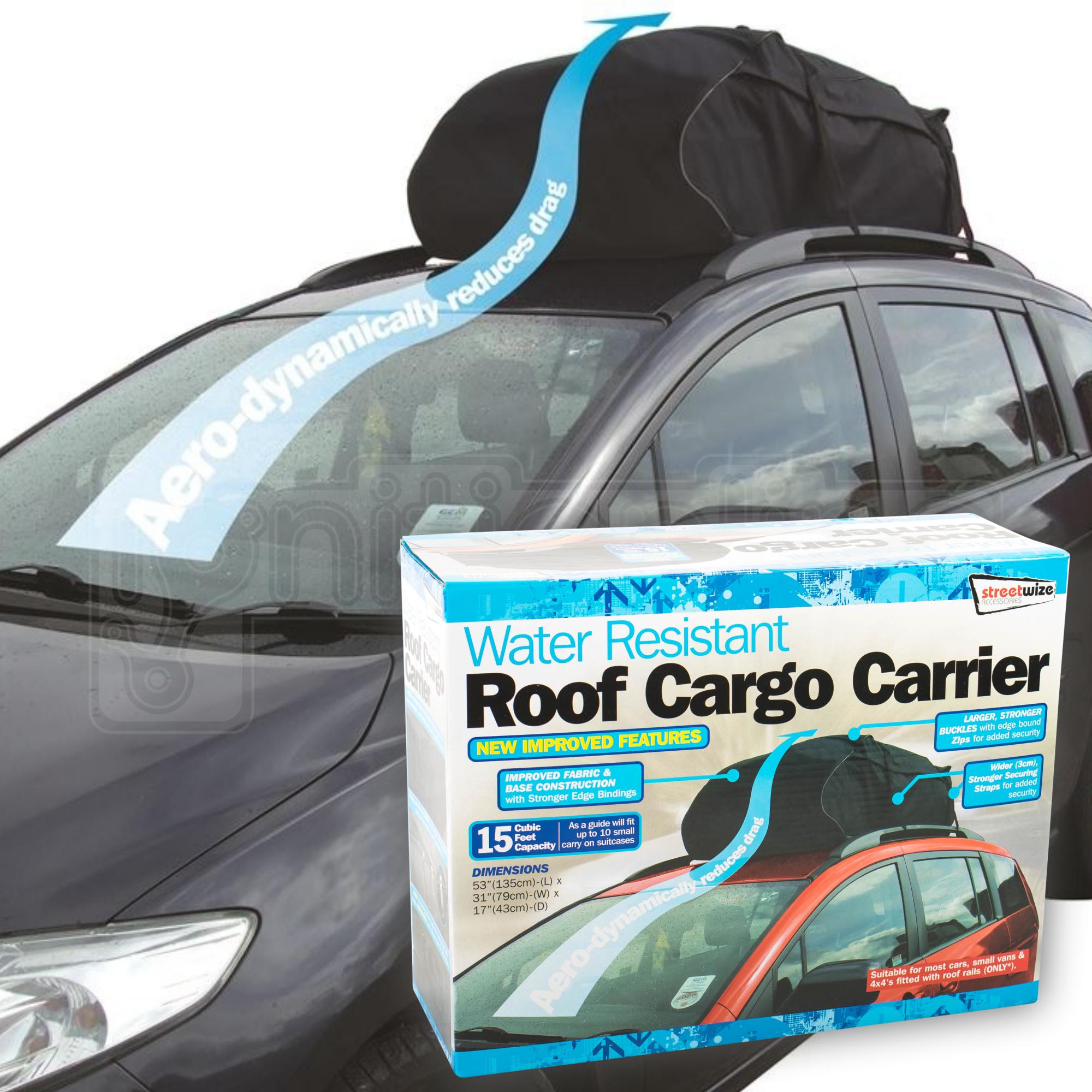 Car Top Carrier 17 Cubic Feet Waterproof Cargo Carrier Heavy Duty Traps Rooftop Cargo Carrier for All Vehicles Cargo Bag Box Storage Luggage