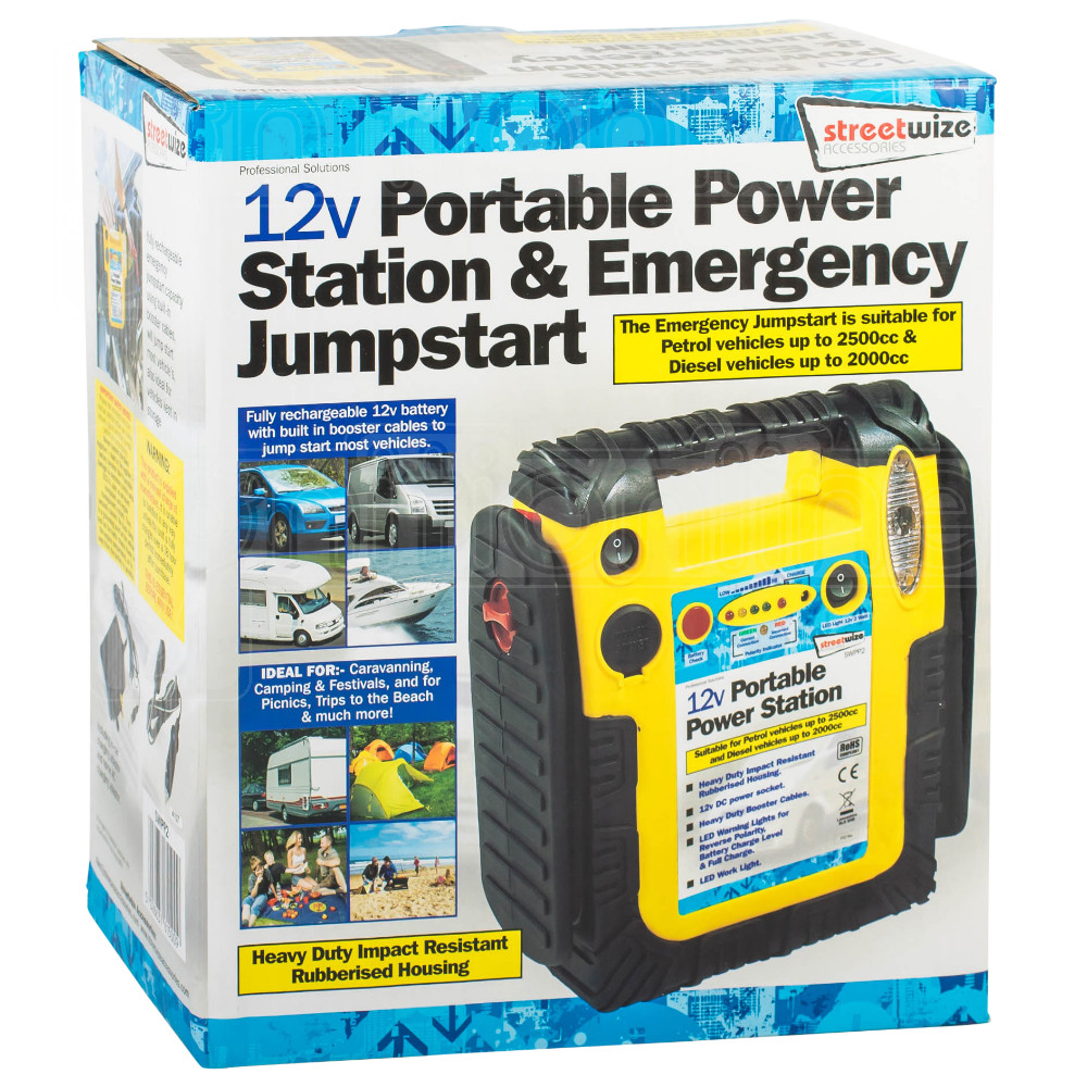 Streetwize 12V Portable Power Station Emergency Jump
