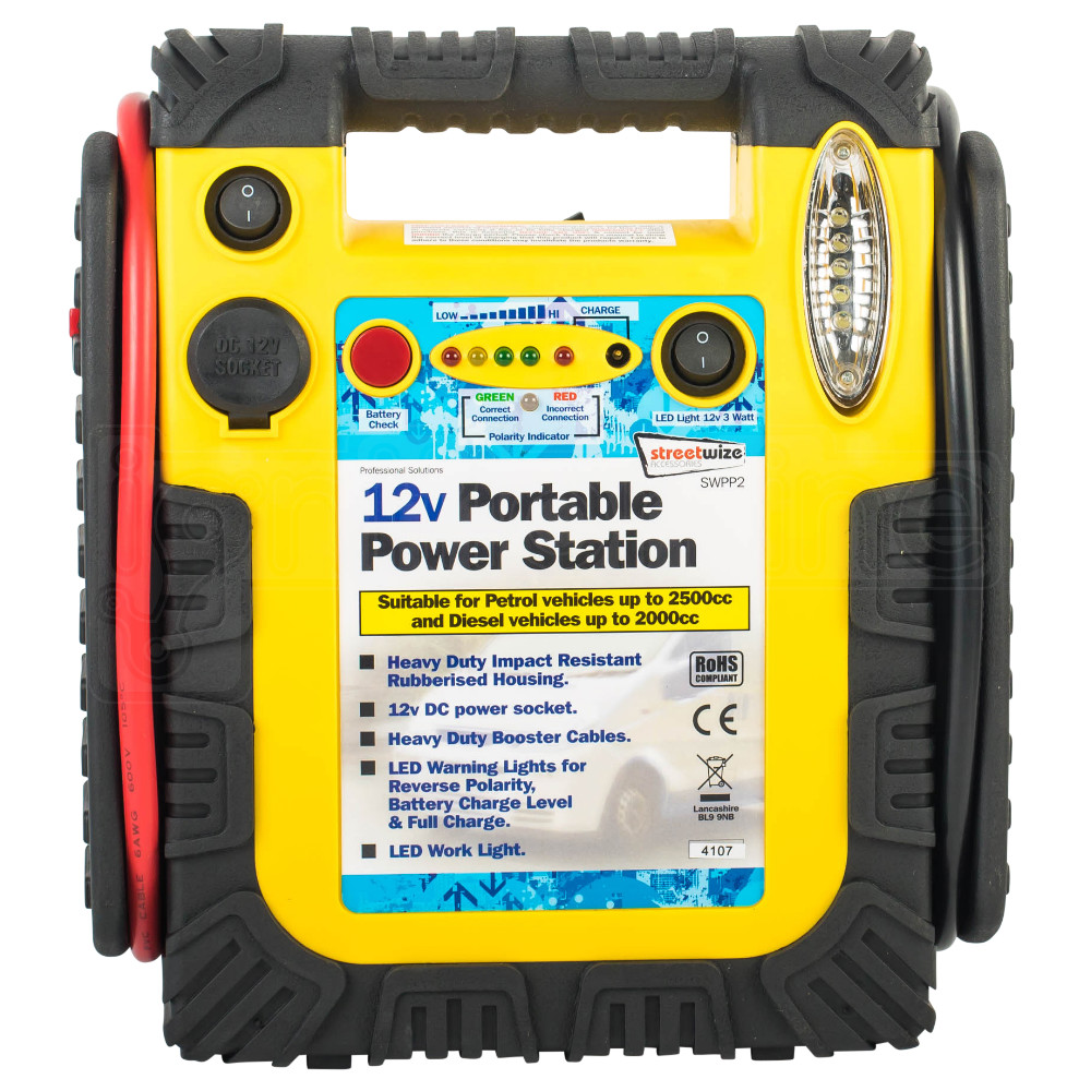 Streetwize 12V Portable Power Station Emergency Jump ...