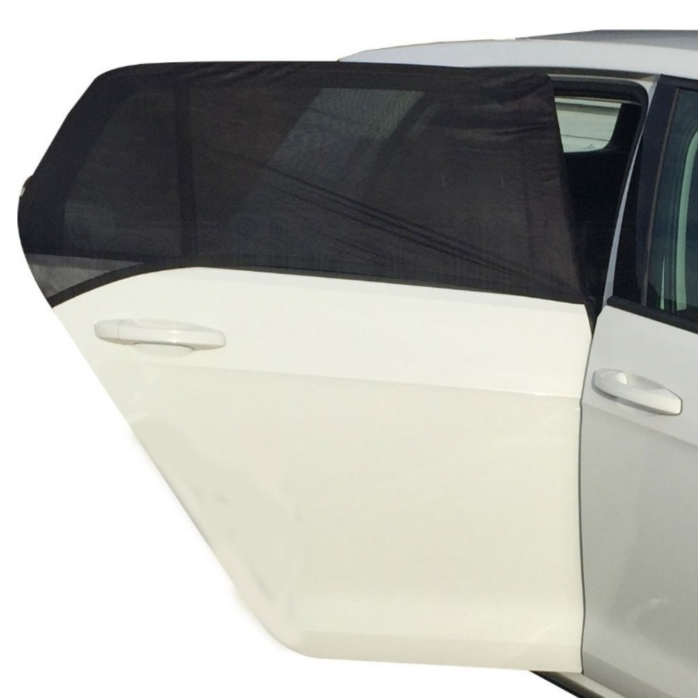 2X Black Mesh Car Van Window Sun Shades Blind Rear Side UV Shield For Kids Baby