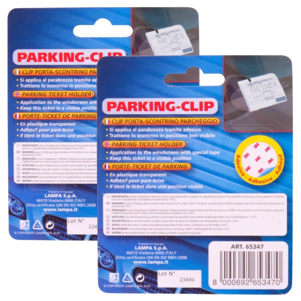 2x Car Vehicle Motorhome Truck Windscreen Parking Ticket Clip Holder Work Pass