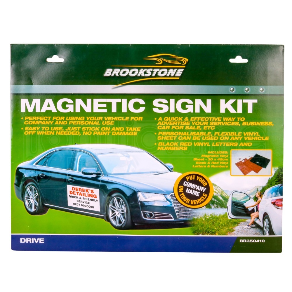 Sentinel magnetic car van truck advertising sign kit company logo letters numbers