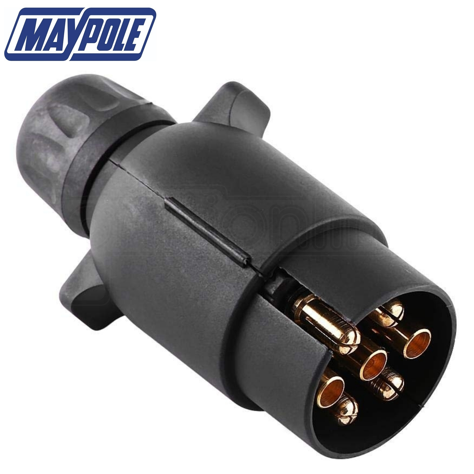 Maypole 12n 7 Pin Plastic Trailer Caravan Plug For Wiring