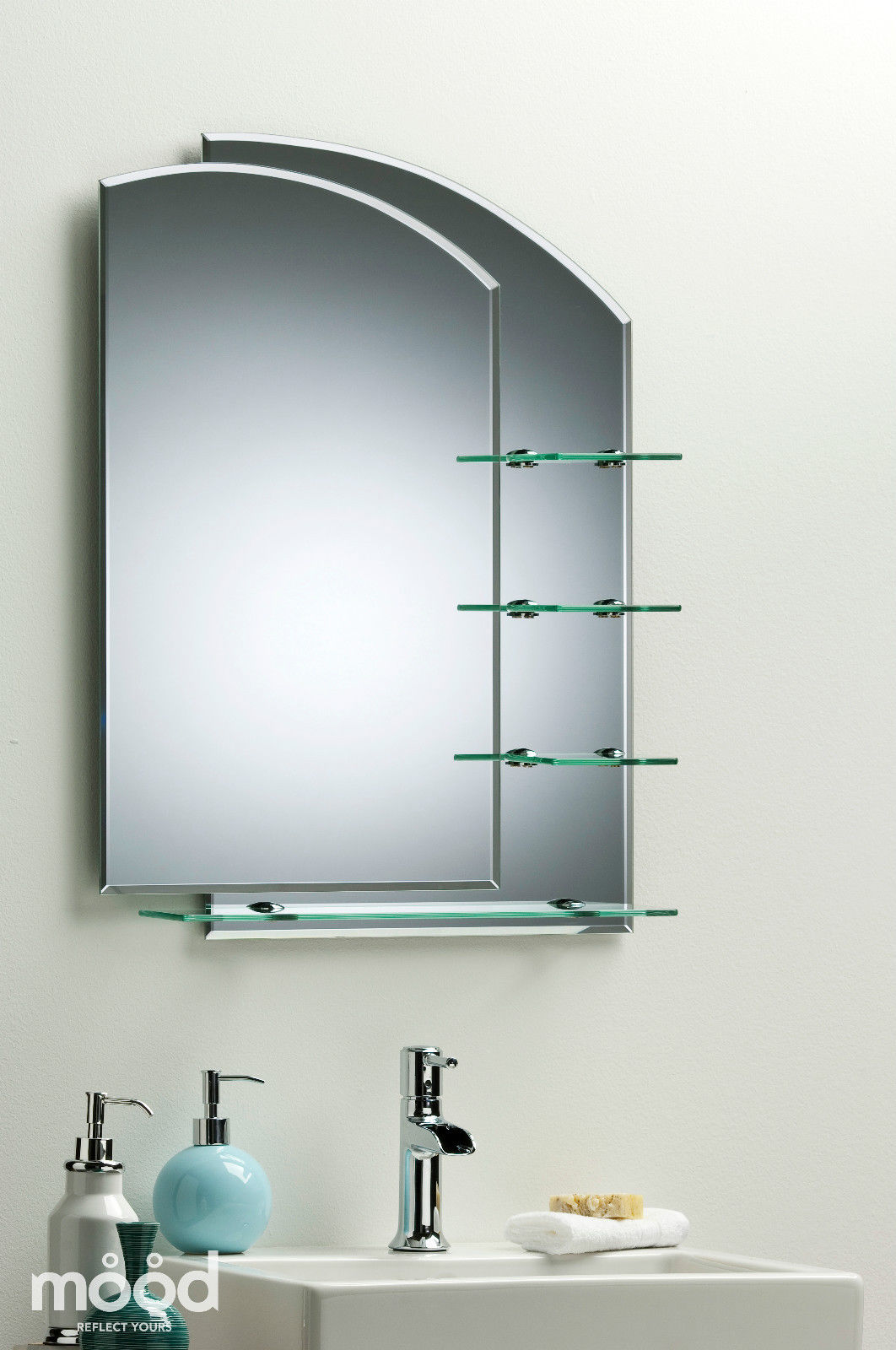 bathroom wall mounted mirrors bathroom mirror modern stylish with shelves frameless wall 17143 | 1024 1