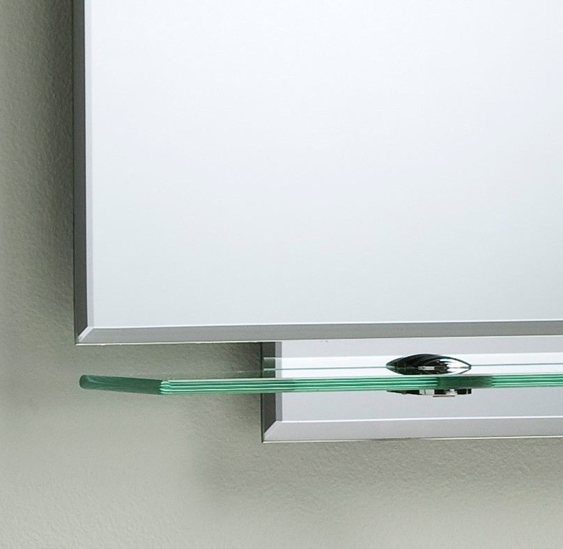 bathroom mirror shelf bathroom mirror modern stylish with shelves frameless wall 11085