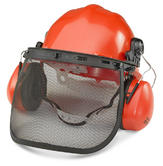 Beeswift BBFK Chainsaw Forestry Brushcutter safety Helmet combination set with Mesh Guard and Earmuffs
