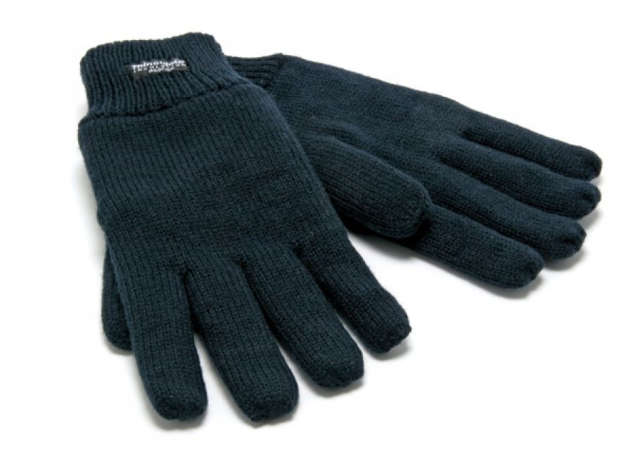 Blackrock 8400400 Thinsulate Lined Woolly Gloves Work Winter One Size Black