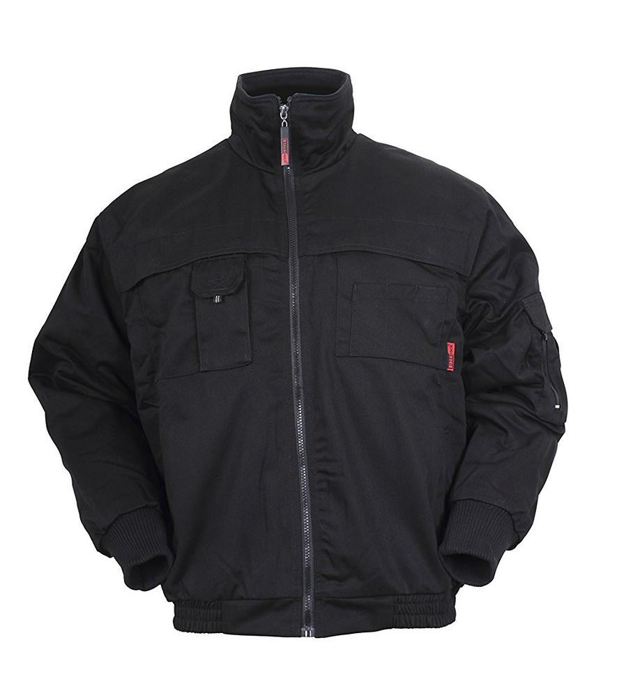 Blackrock Snowdon Work Jacket Multipocket Micro Fleece Black BRSJ S to 3XL
